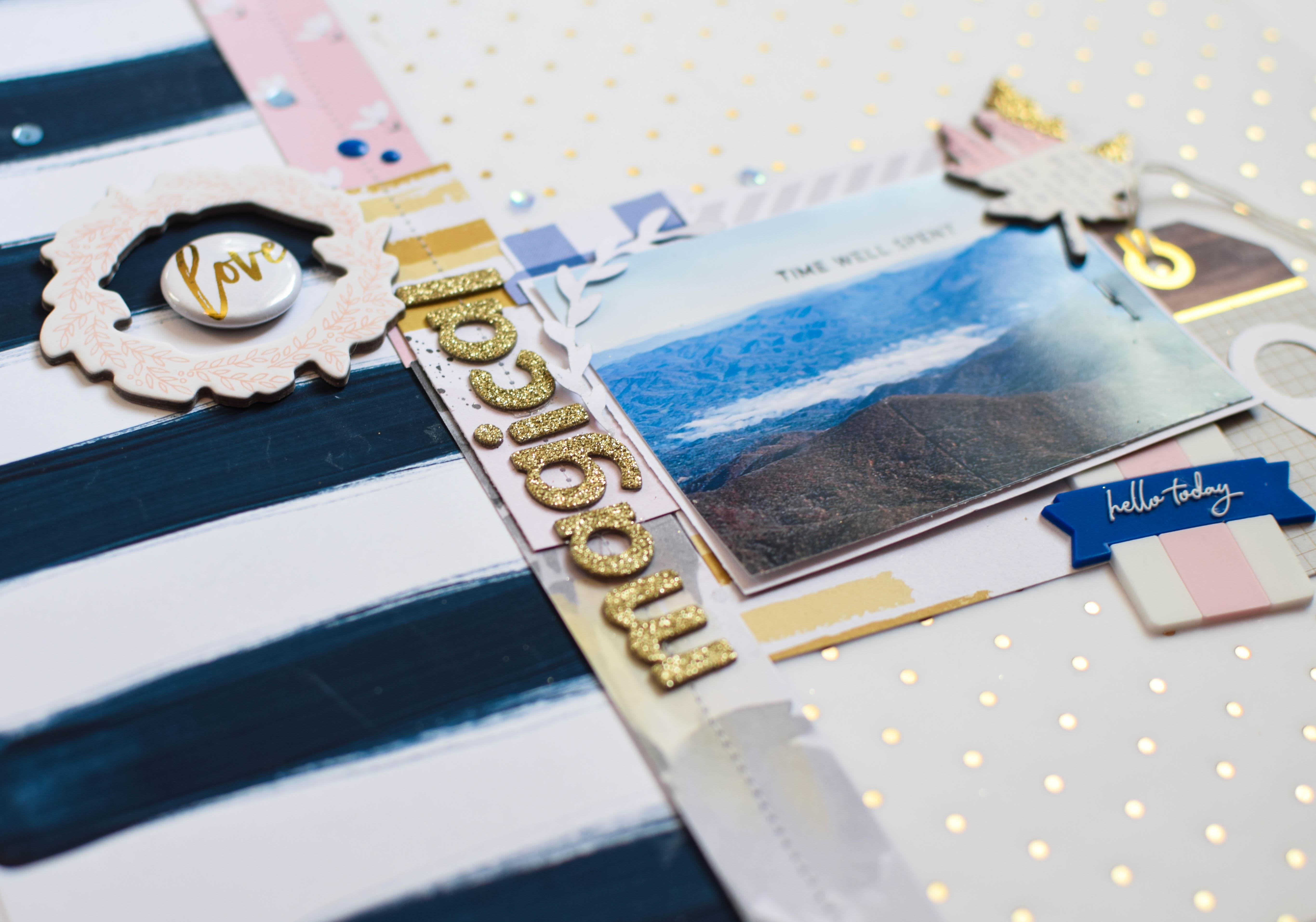 #SpiegelmomScraps #shimmerz #exclusivesequins #cratepaper #maggieholmes #cratepapergather #pinkfreshstudio #createwithsms #vellum #golddetails #stitching @wordsandpaperscraps @shimmerzpaints @pinkfreshstudio @cratepaper #scrapbooking #papercrafting