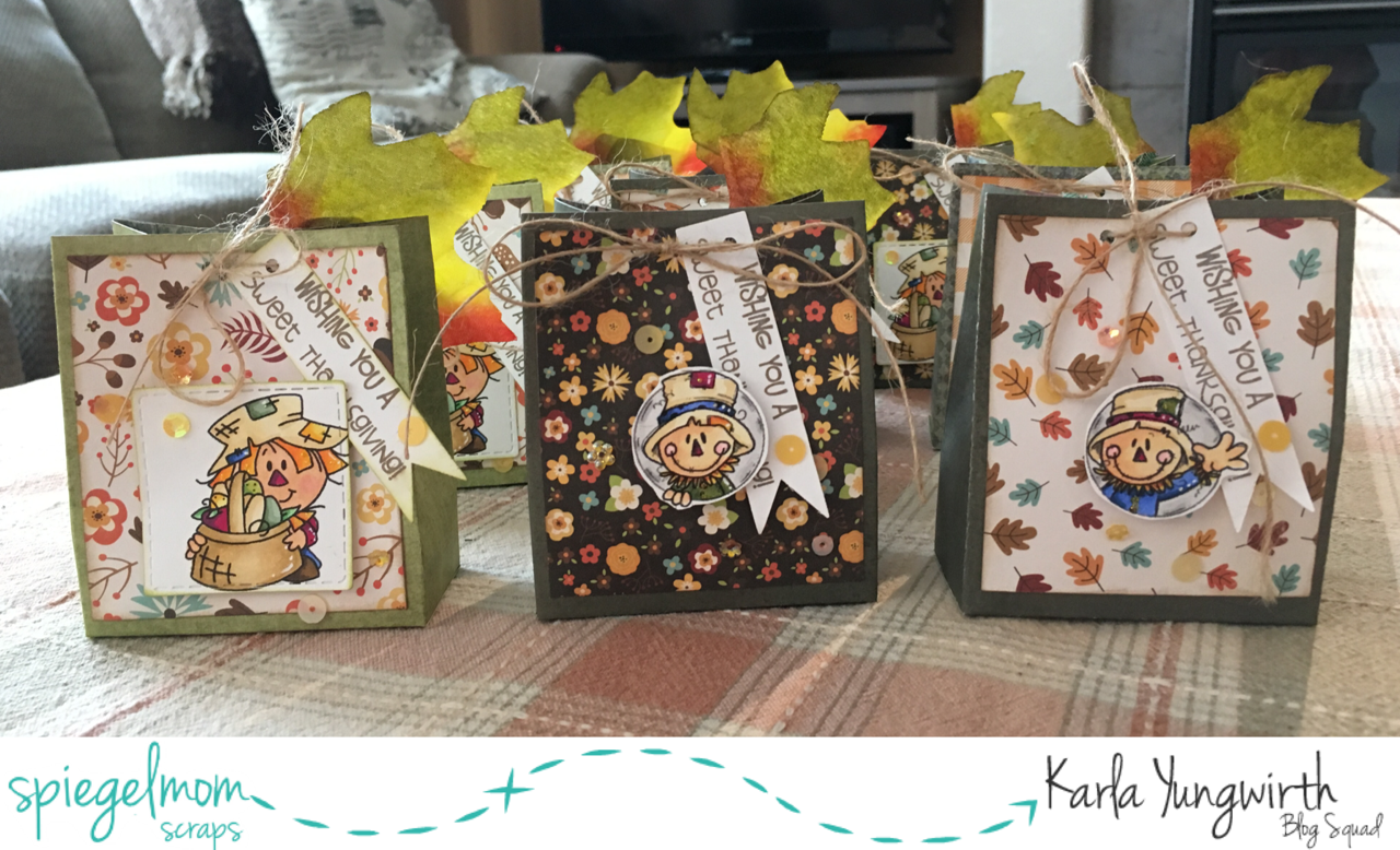 @spiegelmomscraps @jodyspiegelhoff @echopark @bugaboostamps @spellbinders @prettycutestamps @pinkandmainstamps @kaisercraft @mychicknscratch #karlayungwirth #spiegelmomscraps #smssequins #sequins #thanksgiving #mychicknscratch #youtubevideo #treatboxes #diy #thankful #echopark #fall #stamping #prismacolor